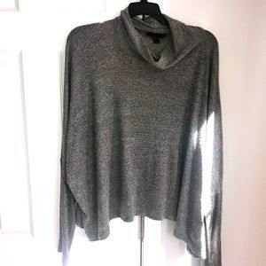 3/$30 Atmosphere Gray Batwing Viscose Crop Sweater
